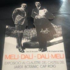 Carteles: EXPOSITOR CARTÓN MELI DALI 1989. Lote 231794980