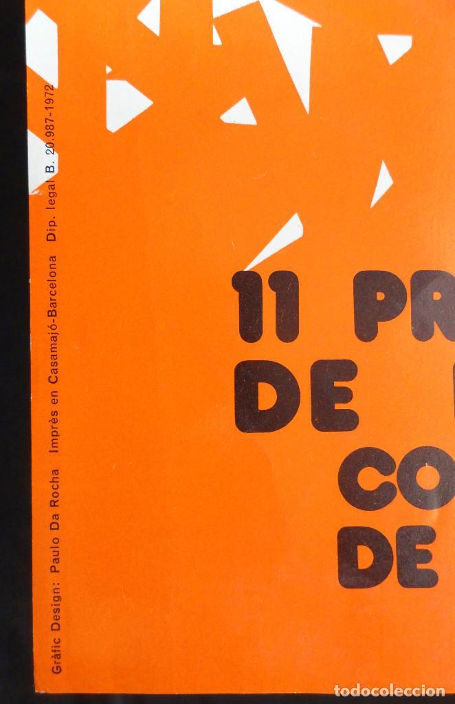 Carteles: Cartel 11 PREMI INTERNACIONAL DE DIBUIX JOAN MIRÓ - Arquitectes Cat. i Balears - Litografia, 1972. - Foto 3 - 232363625