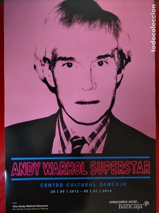 Carteles: CARTEL-- ANDY WARHOL -- SUPERESTAR -- 60x42 cm -- PERFECTO ESTADO - Foto 3 - 232626280