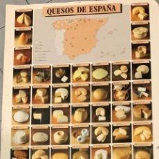 Carteles: QUESOS DE ESPAÑA. Lote 233910725