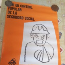 Carteles: CARTEL POLÍTICO TRANSICIÓN COMUNISTA, LCR, FUT,FRAP, RARO. Lote 234313925