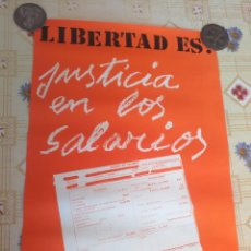 Carteles: CARTEL POLÍTICO TRANSICIÓN COMUNISTA, LCR, FUT,FRAP, RARO. Lote 234314095