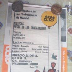 Affissi: CARTEL POLÍTICO TRANSICIÓN REPUBLICA COMUNISTA CANDIDATURA DE LOS TRABAJADORES. Lote 235262075
