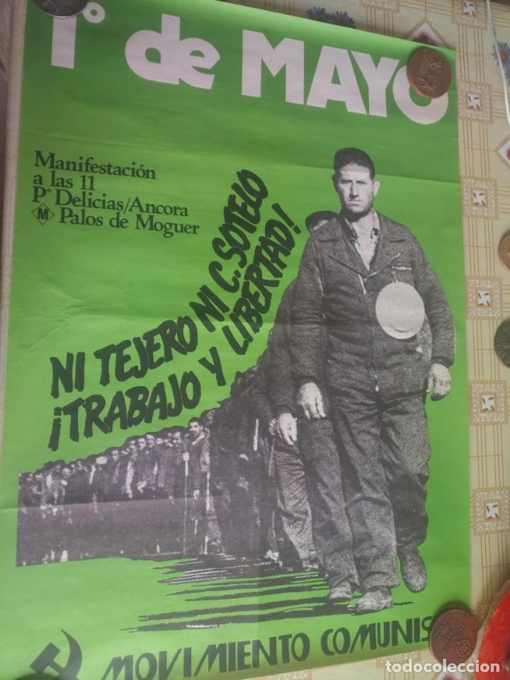 CARTEL POLÍTICO TRANSICIÓN MC, PCE, PSP, SOCIALISTA (Coleccionismo - Carteles Gran Formato - Carteles Varios)