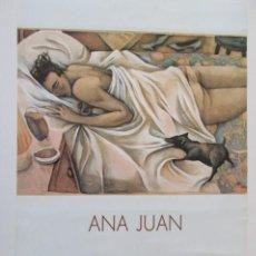 Carteles: ANA JUAN, MOVIDA MADRILEÑA, CARTEL EXPOSICIÓN SEVILLA 1989, GRAN FORMATO. Lote 235830565