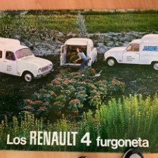 Affissi: CARTEL PROMOCIONAL RENAULT 4 FURGONETA TAMAÑO 110 X70. Lote 236190295