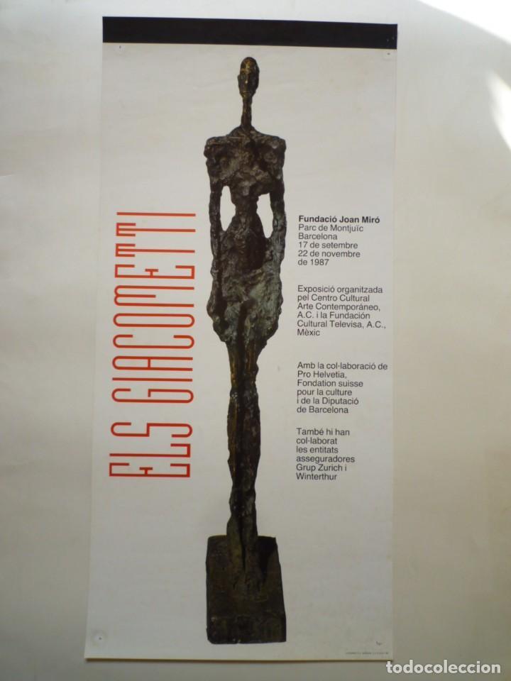 GIACOMETTI. CARTEL. FUNDACIÓ JOAN MIRÓ. 1987 (Coleccionismo - Carteles Gran Formato - Carteles Varios)
