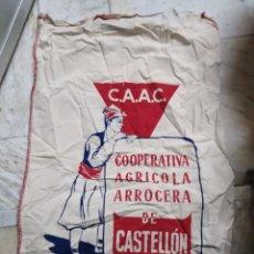 Carteles: BONITO PUBLICITARIO SACO DE LA COOPERATIVA ARROCERA DE CASTELLÓN-C.A.A.C.-52/92 CM. Lote 236595155