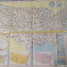 Carteles: MAPA DE EE UU .. Lote 236984165