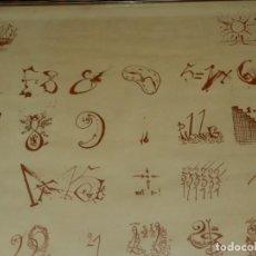 Carteles: (M) ANTIGUO CARTEL SALVADOR DALI , ENMARCADO DE EPOCA 71X49,5 CM.. Lote 238456420