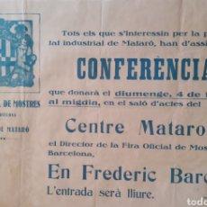 Carteles: CARTEL. FIRA DE BARCELONA. SIN AÑO. 45X65CM. IMPRENTA MINERVA.. Lote 238570835