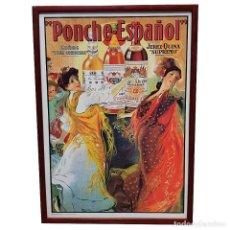 """Carteles: CARTEL PUBLICITARIO DE """"PONCHE ESPAÑOL"""".. Lote 241972355"""