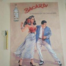 Carteles: CARNAVALES VINTAGE BACARDI EL FAVORITO DE LOS CARNAVALES. Lote 242109965