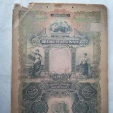 Affiches: CARTEL CARTON PUBLICIDAD, BRADBURY WILKINSON, GRABADORES E IMPRESORES DE BILLETES DE BANCO, 1913. Lote 243038190