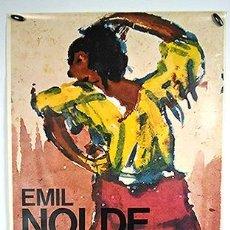 Carteles: EMIL NOLDE. MADRID, 1974. SALAS DE EXPOSICIONES DE LA DIRECCIÓN GENERAL DE BELLAS ARTES. 70 X 50 CM. Lote 246008975