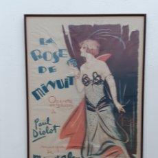 Carteles: CARTEL ORIGINAL OPERETA LA ROSE DE MINUIT. Lote 248490400