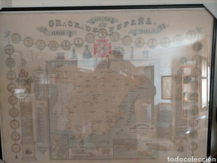 Carteles: Mapa masónico del S.XIX (Edición limitada) - Foto 4 - 252221205