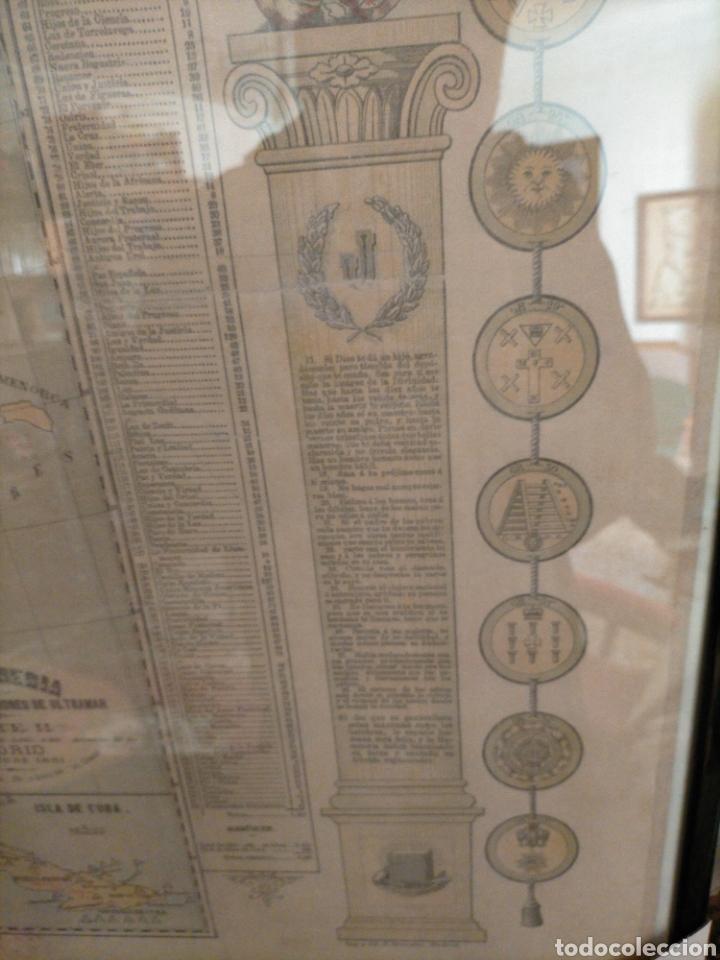 Carteles: Mapa masónico del S.XIX (Edición limitada) - Foto 7 - 252221205