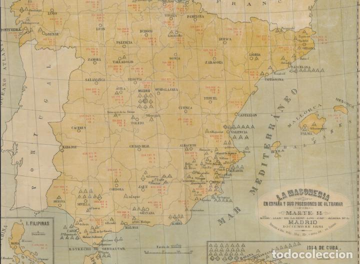 Carteles: Mapa masónico del S.XIX (Edición limitada) - Foto 2 - 252221205