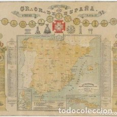 Carteles: MAPA MASÓNICO DEL S.XIX (EDICIÓN LIMITADA). Lote 252221205