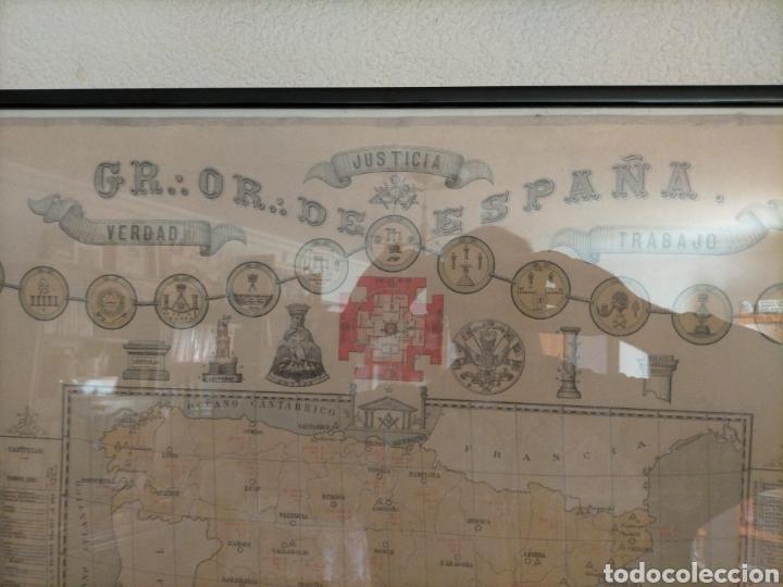 Carteles: Mapa masónico del S.XIX (Edición limitada) - Foto 6 - 252221205