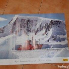 Affissi: POSTER BUQUE INVESTIGACIÓN OCEANOGRÁFICA HESPÉRIDES A-33.. Lote 252829100