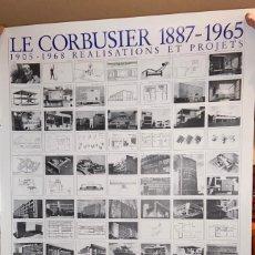 Carteles: CARTEL-PÓSTER DE CARLOS EDUARDO JEANNERET, LE CORBUSIER, 1887-1965. LIDIARTE, 1987. Lote 253343290