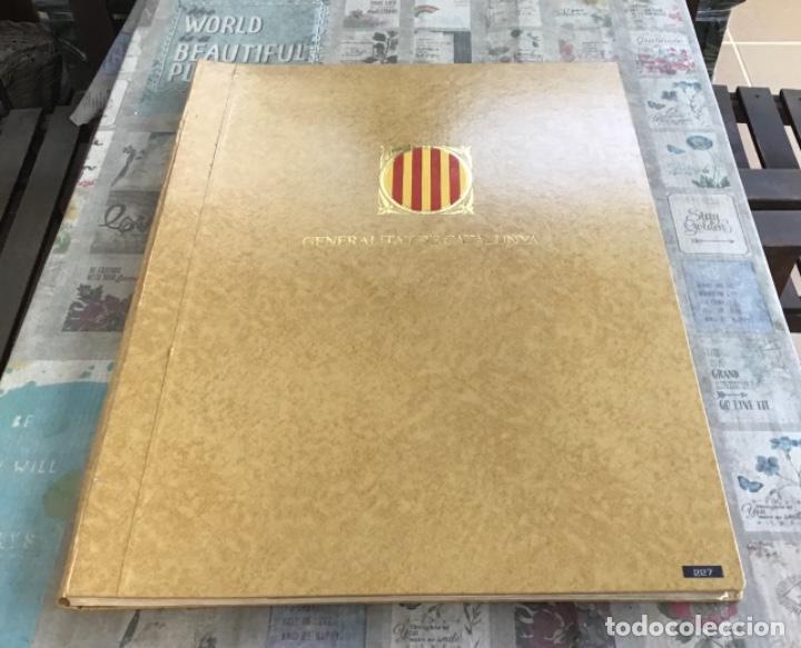 CARPETA PARA GUARDAR POSTERS - GENERALITAT DE CATALUNYA (Coleccionismo - Carteles Gran Formato - Carteles Varios)