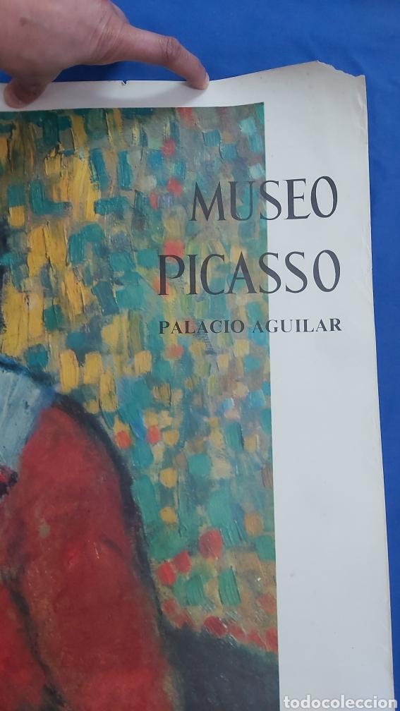 Carteles: LATTENTE CARTEL ORIGINAL MUSEO PICASSO. PALACIO AGUILAR. SALA GASPAR 1966 - Foto 5 - 97829884