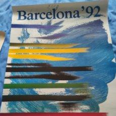 Carteles: CARTEL ORIGINAL OLIMPIADAS BARCELONA 92-AUTORES SAURA TORRENTE. Lote 254168600