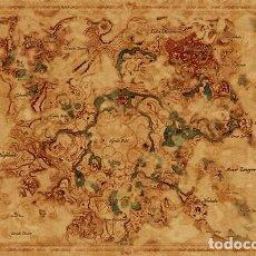 Carteles: POSTER MAPA MUNDIAL DE ALIENTO DEL HIRULO SALVAJE - LA LEYENDA DE ZELDA (THE LEGEND OF ZENDA OF THE. Lote 254236270