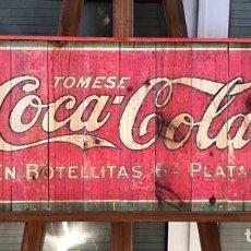 Carteles: CARTEL MADERA RETRO COCA-COLA 95X38. Lote 256159010