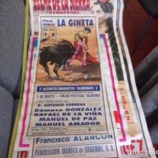 Carteles: CARTEL TOROS LA GINETA,DAMASO,DE LA VIÑA Y MAS. Lote 257303590