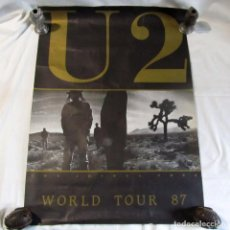 Carteles: CARTEL U2 THE JOSHUA TREE WORLD TOUR 87, 83 X 59 CENTÍMETROS. Lote 258152065