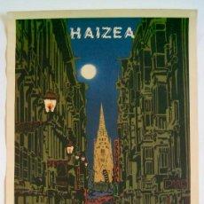 Carteles: CARTEL ORIGINAL / HAIZEA / HONTZ GAUA / PAIS VASCO / XOXOA / 1979 / 34X65 CM. Lote 261281835