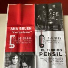 "Carteles: CARTEL (97X67 CMS) - ANA BELEN ""LORQUIANA"" - EL FLORIDO PENSIL -. Lote 263029235"