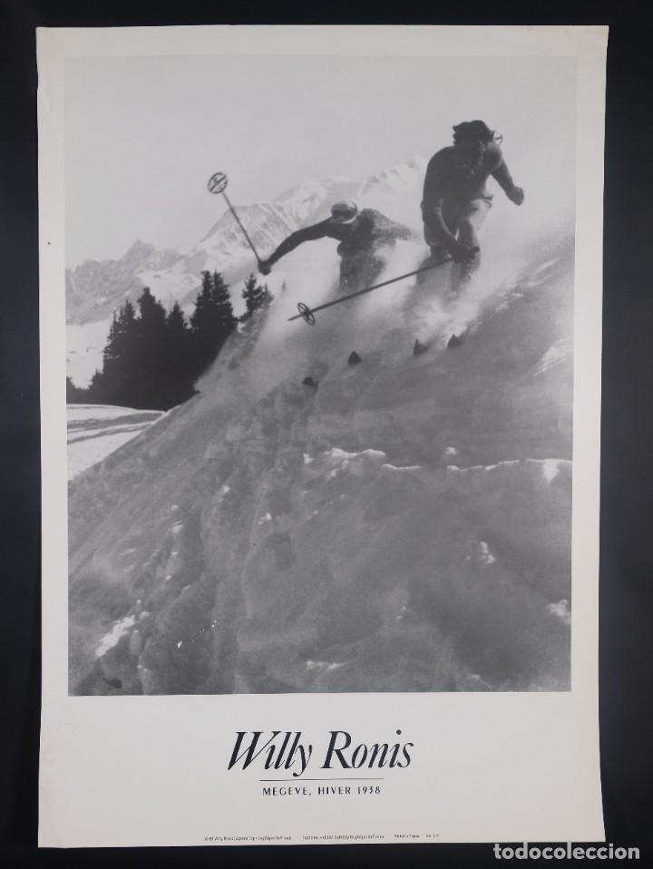CARTEL WILLY ROMIS MEGÈVE HIVER 1938 - GRAPHIQUE DE FRANCE 1988 (Coleccionismo - Carteles Gran Formato - Carteles Varios)