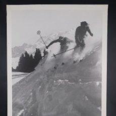 Carteles: CARTEL WILLY ROMIS MEGÈVE HIVER 1938 - GRAPHIQUE DE FRANCE 1988. Lote 269749253