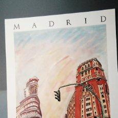 Carteles: MADRID, CALLAO, GRAN VÍA, POR JORGE ARRANZ.1987. MARIO AYUSO EDITOR. 69 X 48,5 CM. EXCELENTE ESTADO. Lote 269970578