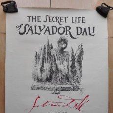 Carteles: ANTIGUO CARTEL.THE SECRET LIFE OF SALVADOR DALI MUSEUM.FLORIDA 1982.ENRIQUE SABATER. Lote 269973318
