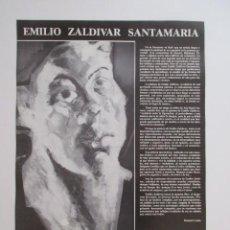 Carteles: 1978 EMILIO ZALDIVAR SANTAMARÍA - CASA DE CULTURA BURGOS - SALA EXPOSICIONES - MINISTERIO CULTURA. Lote 275315268