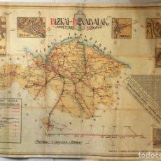 Carteles: MAPA DE CARRETERAS DE BIZKAYA .. BIZKAI BITXABALAK 1918. Lote 275725283