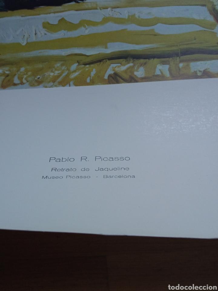Carteles: Lámina de cartulina que reproduce el Retrato de Jaqueline, de Pablo Picasso. - Foto 3 - 277172883