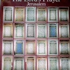 Carteles: TIERRA SANTA JERUSALÉN PADRE NUESTRO CARTEL EN VARIOS IDIOMAS TABLAS GALEGO ESPAÑOL CARTEL 95X68. Lote 278393838