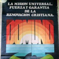 Carteles: DOMUND 1975 CARTEL JOSE RAMON LA MISIN UNIVERSAL .....100X70 CM ORIGINAL. Lote 278399233