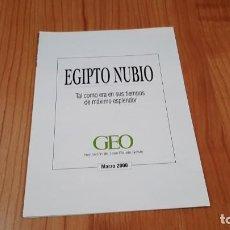 Carteles: EGIPTO NUBIO -- EN TIEMPO DE MÁXIMO EXPLENDOR -- CARTEL ILUSTRATIVO -- MARZO, 2000 -- GEO. Lote 278471188