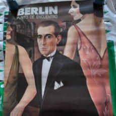 Carteles: CARTEL EXPOSICIÓN BERLÍN PUNTO DE ENCUENTRO, MUSEO REINA SOFÍA 1989. Lote 280164513