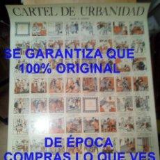 Affiches: RICARDO OPISSO CARTEL AUCA URBANIDAD EL NIÑO BIEN MAL EDUCADO EN 63 VIÑETAS 830X590 MM. Lote 287316978