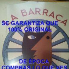 Carteles: CARTEL LITOGRAFICO ORIGINAL LA BARRACA TEATRO UNIVERSITARIO 1975 FEDERICO GARCIA LORCA 900X640 MM. Lote 287327293