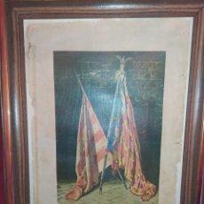 Carteles: CARTEL SEÑERA ENMARCADA SIN CRISTAL REY DON JAIME BANDERA DE VALENCIA 1978 PROHIBIDA REPRODUCCION. Lote 293682393